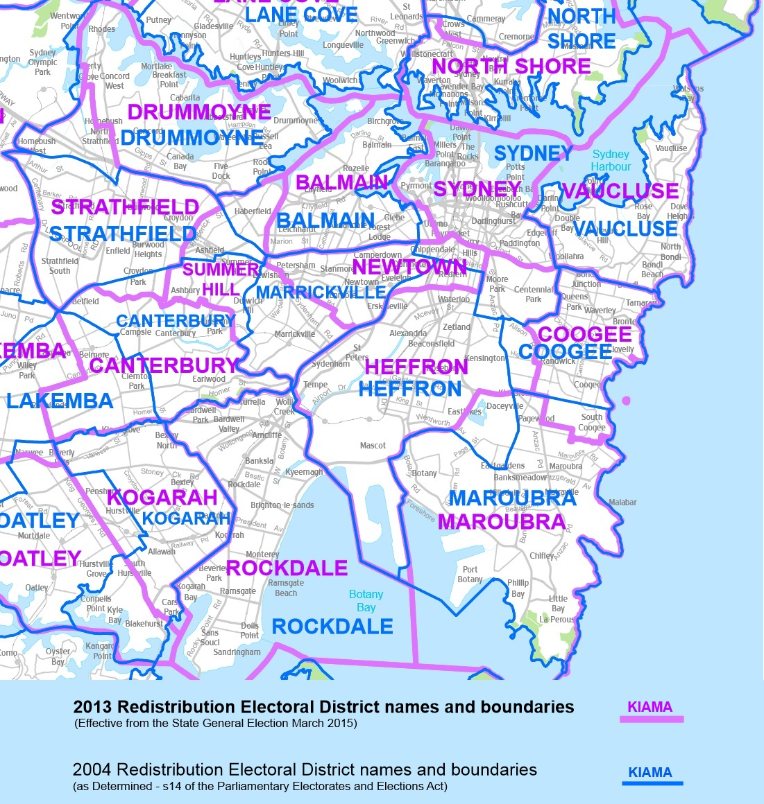 NSW election boundary changes Inner Sydney Voice Magazine