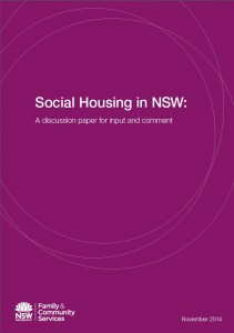 Social Housing in NSW: A discussion paper for input and comment